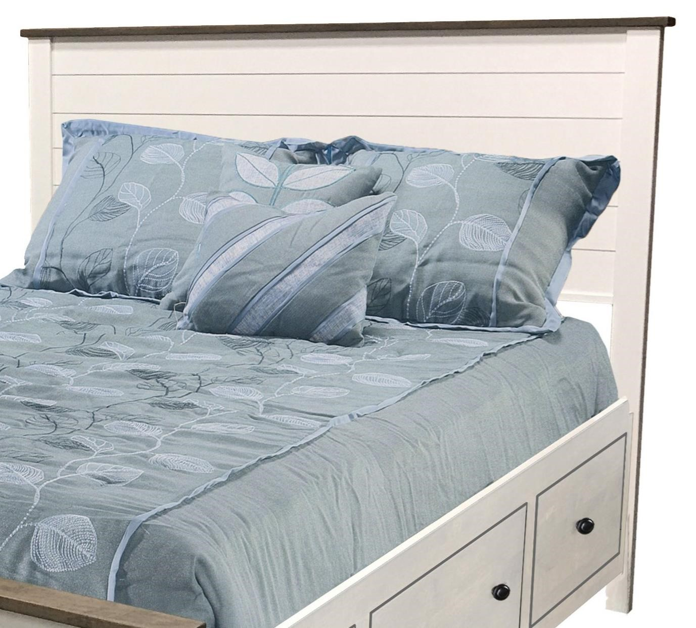 Portland King Shiplap 2-Tone Headboard Only by Archbold Furniture at Gill Brothers Furniture