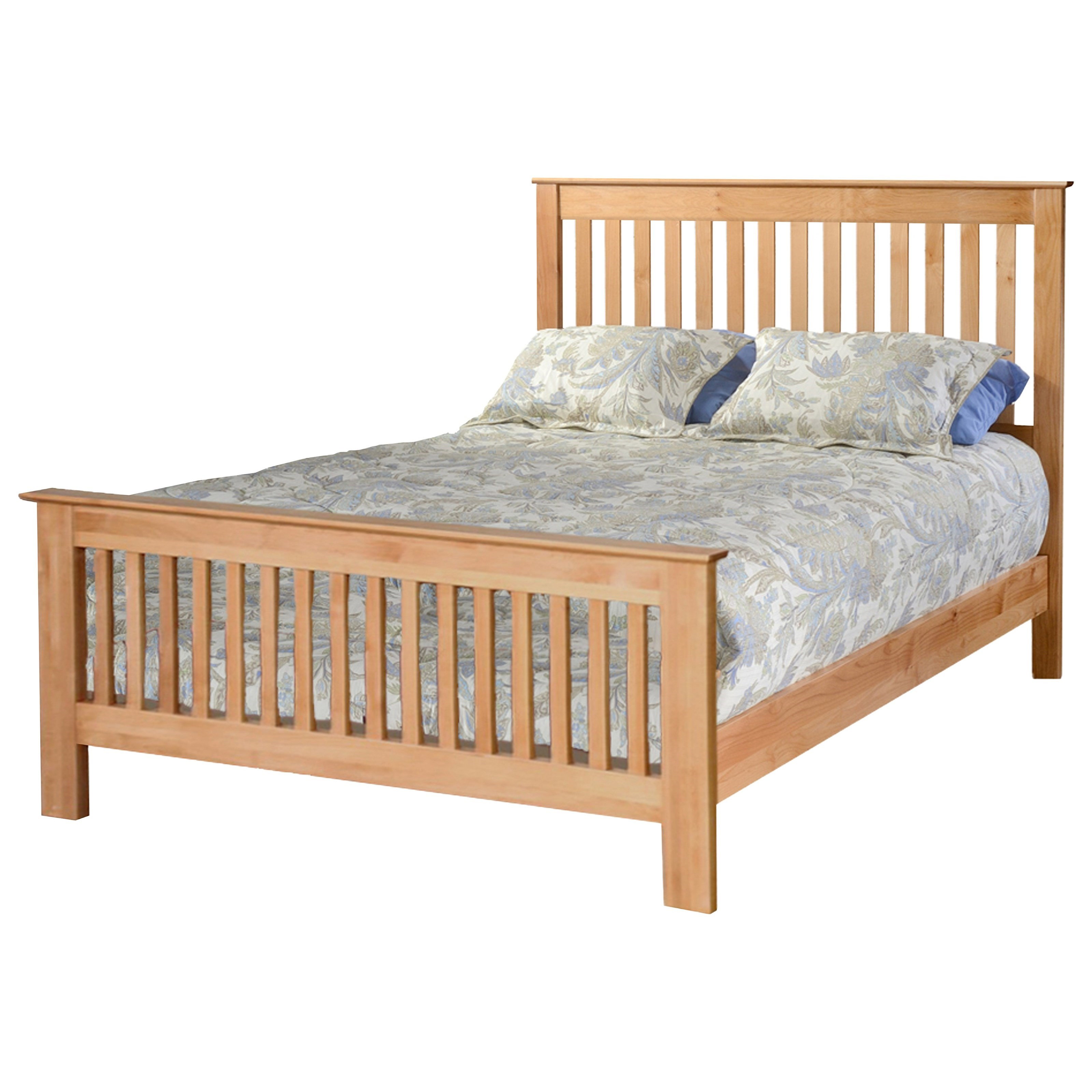 Shaker Queen Slat Bed by Archbold Furniture at Mueller Furniture