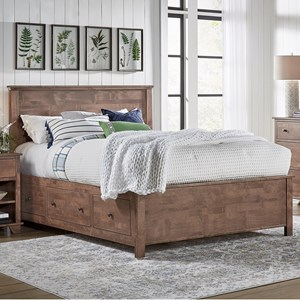Queen Elevated Storage Bed