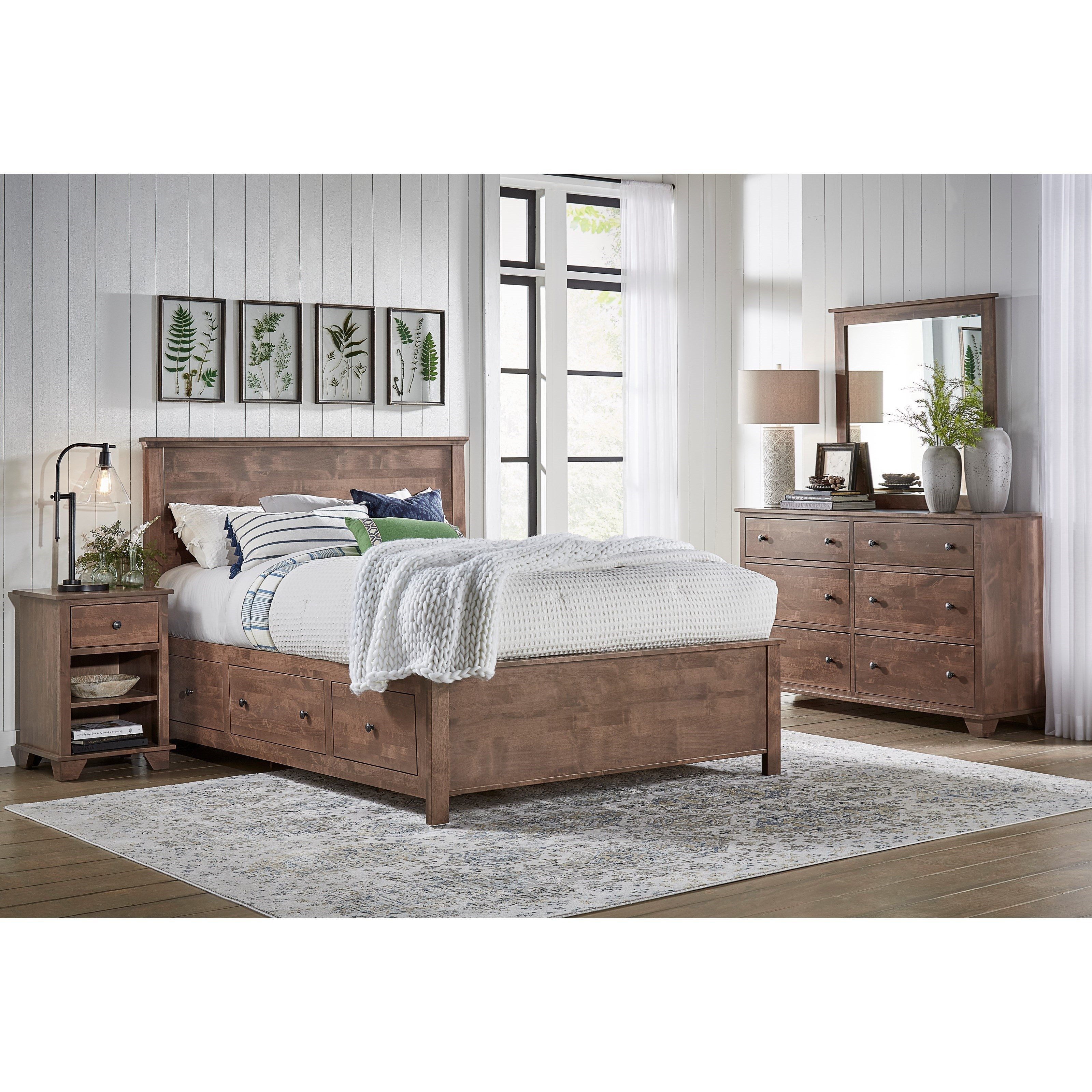 Heritage Elevated Storage Bed Bedroom Group by Archbold Furniture at Mueller Furniture