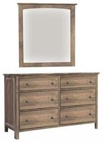 Alder Heritage Dresser and Mirror by Archbold Furniture at Johnny Janosik