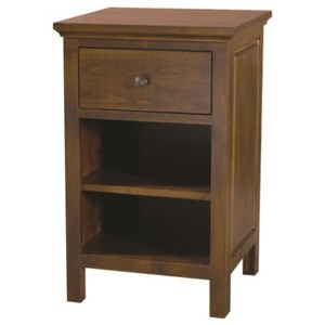 American Made 1-Drawer Nightstand