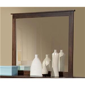 Mirror with Top Molding