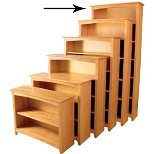 """84"""" Tall Bookcase with 5 Shelves"""