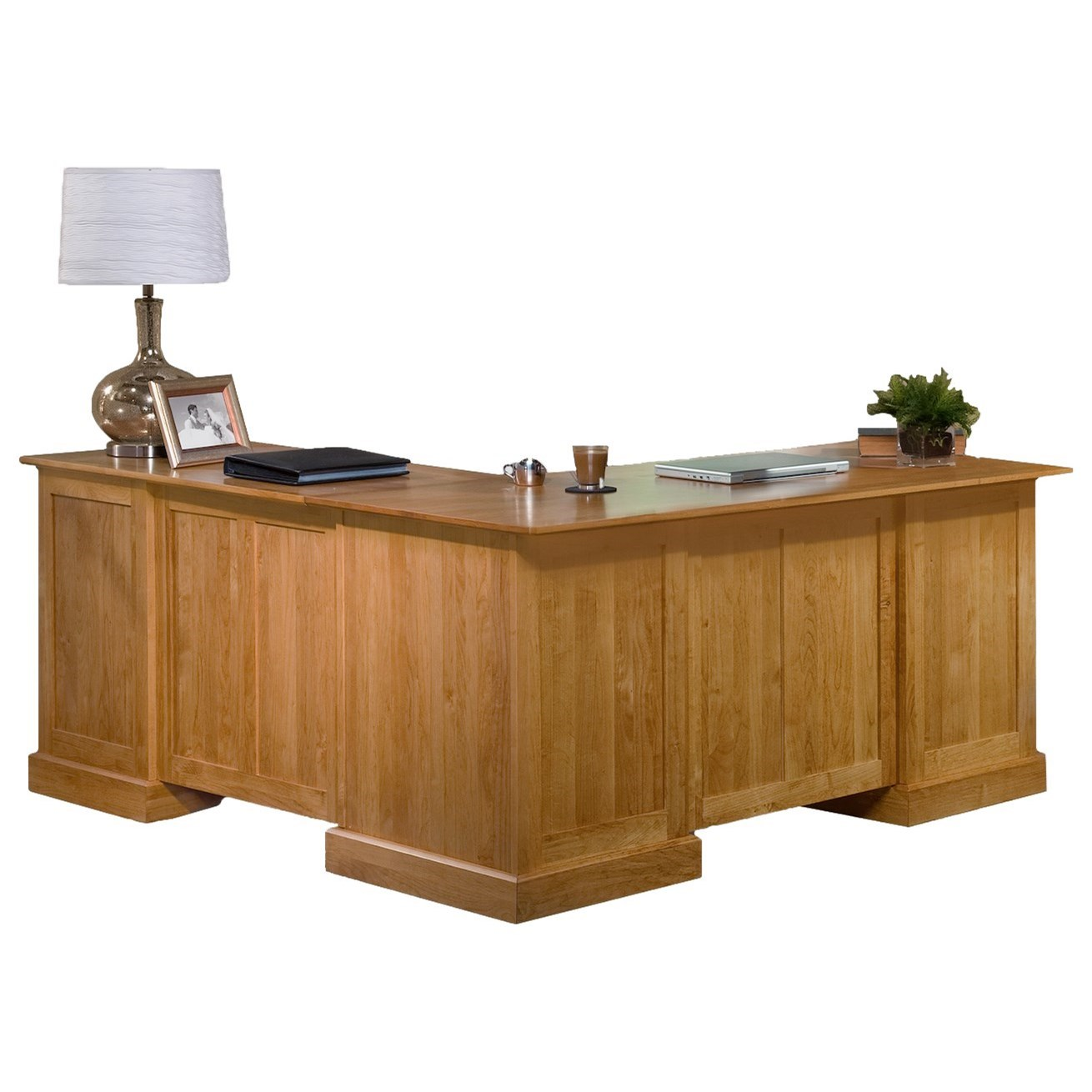 Executive Home Office L Shape Desk and Return by Archbold Furniture at Mueller Furniture