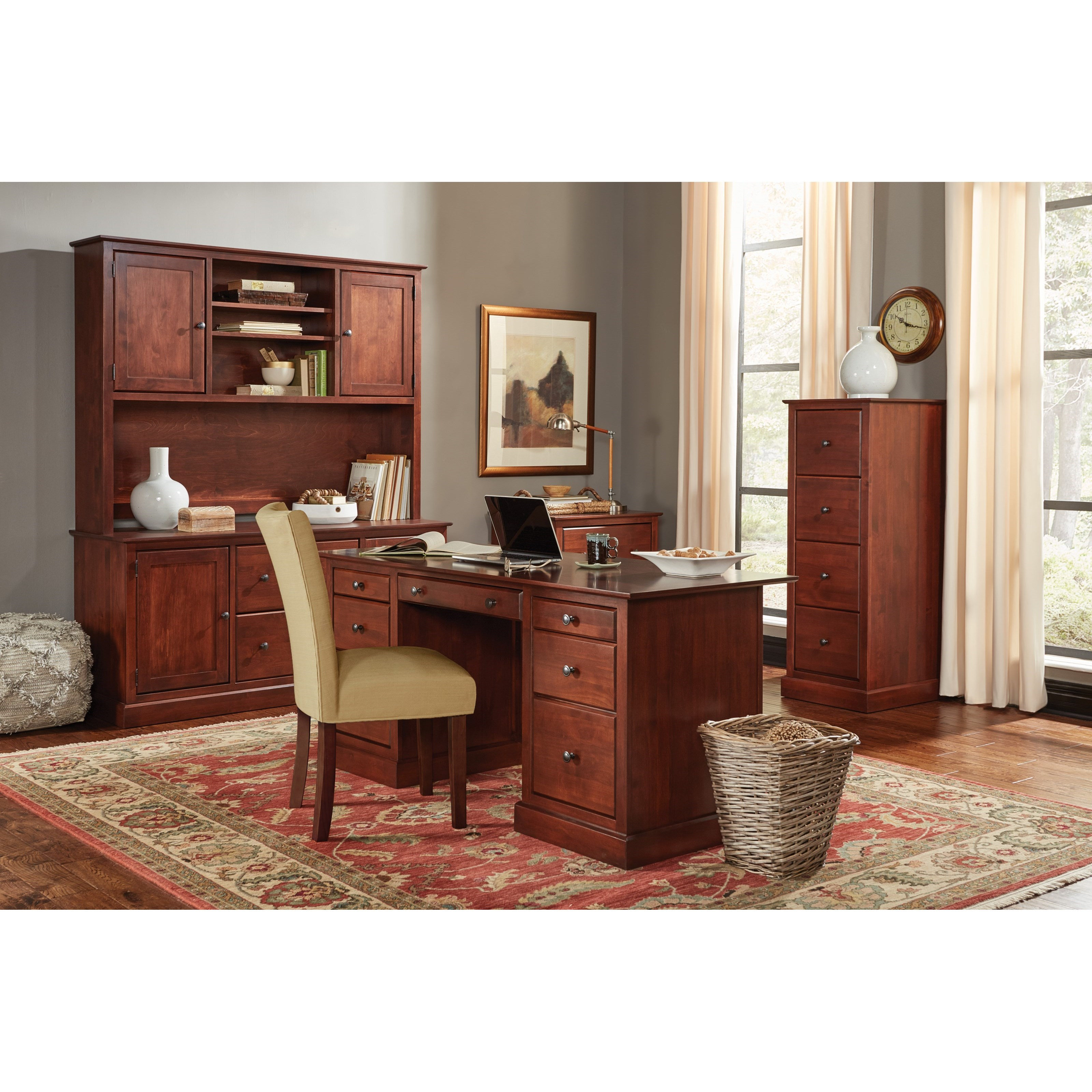 Executive Home Office Executive Home Office Group by Amish Traditions at Sprintz Furniture