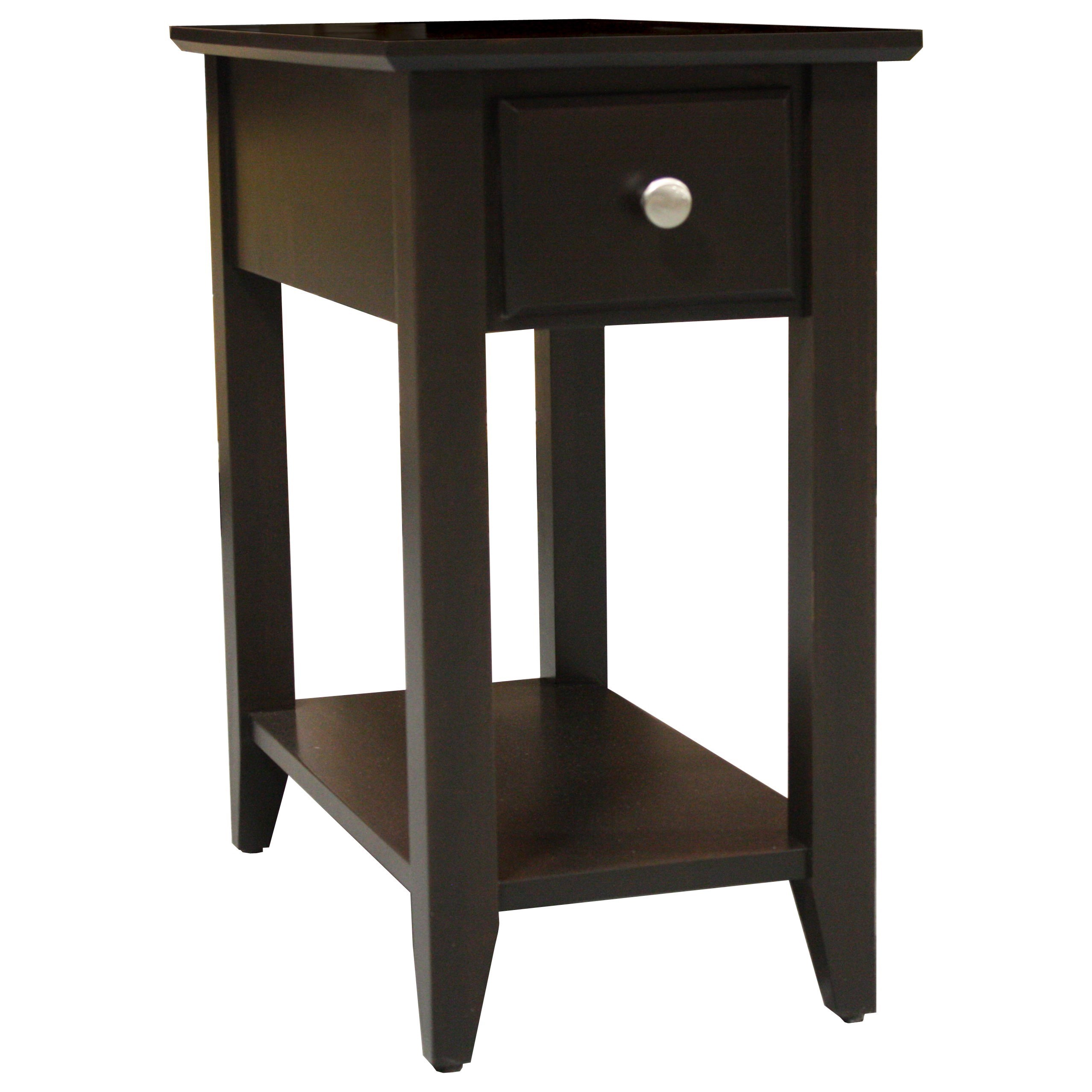 Alder Shaker Tables Chairside Table by Archbold Furniture at Furniture and ApplianceMart