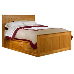 Queen Chest Bed with 3 Drawer Pedestal