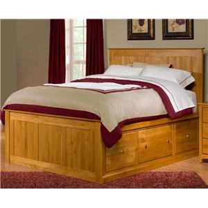 Queen Flat Panel Chest Bed with 6 Drawers