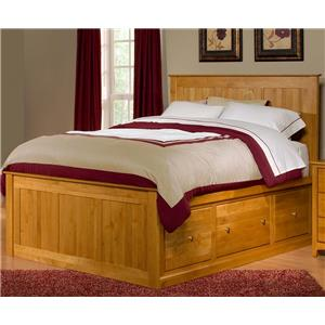 King Flat Panel Chest Bed with 6 Drawers