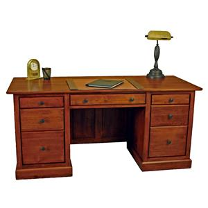 Executive Desk with Keyboard Flip-Down Drawer