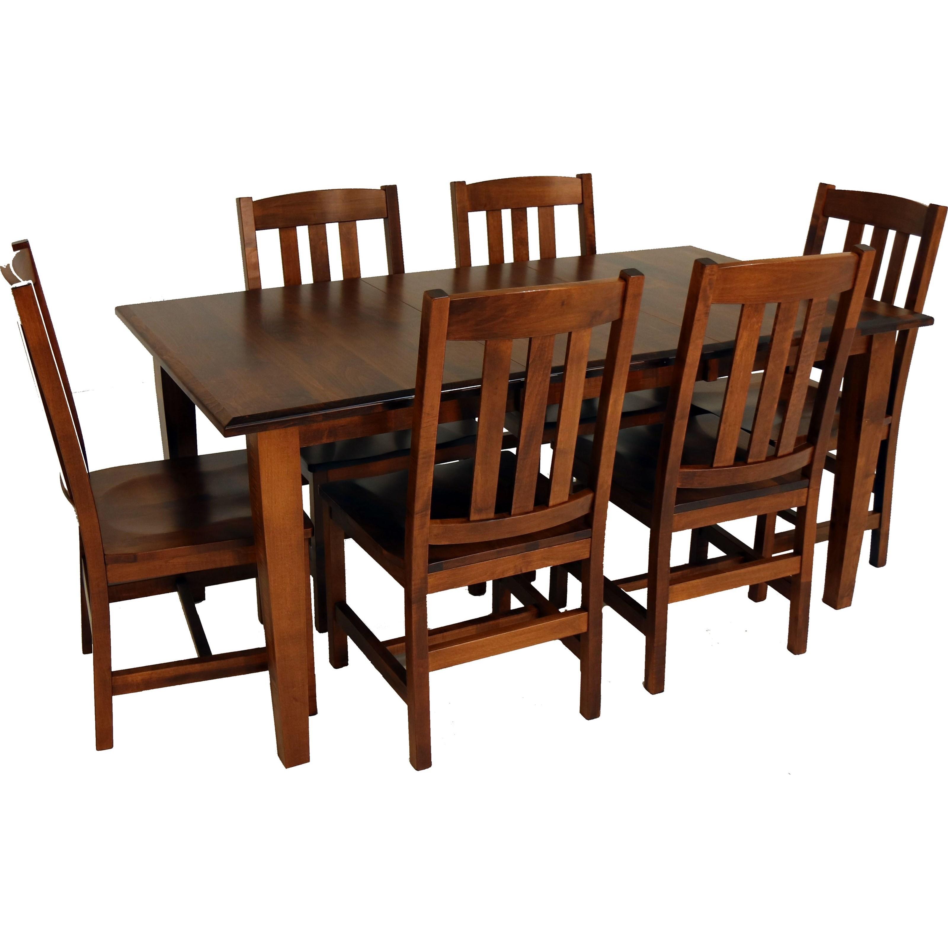 Amish Essentials 7-Piece Dining Set by Archbold Furniture at Mueller Furniture