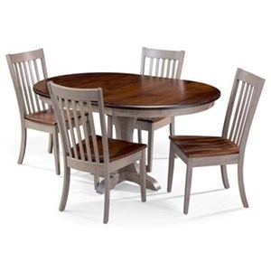 5 Piece Mary Table and Alex Chair Set