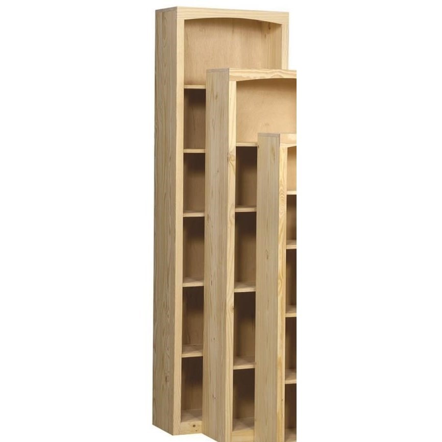Pine Bookcases Pine Bookcase by Vendor 980 at Becker Furniture