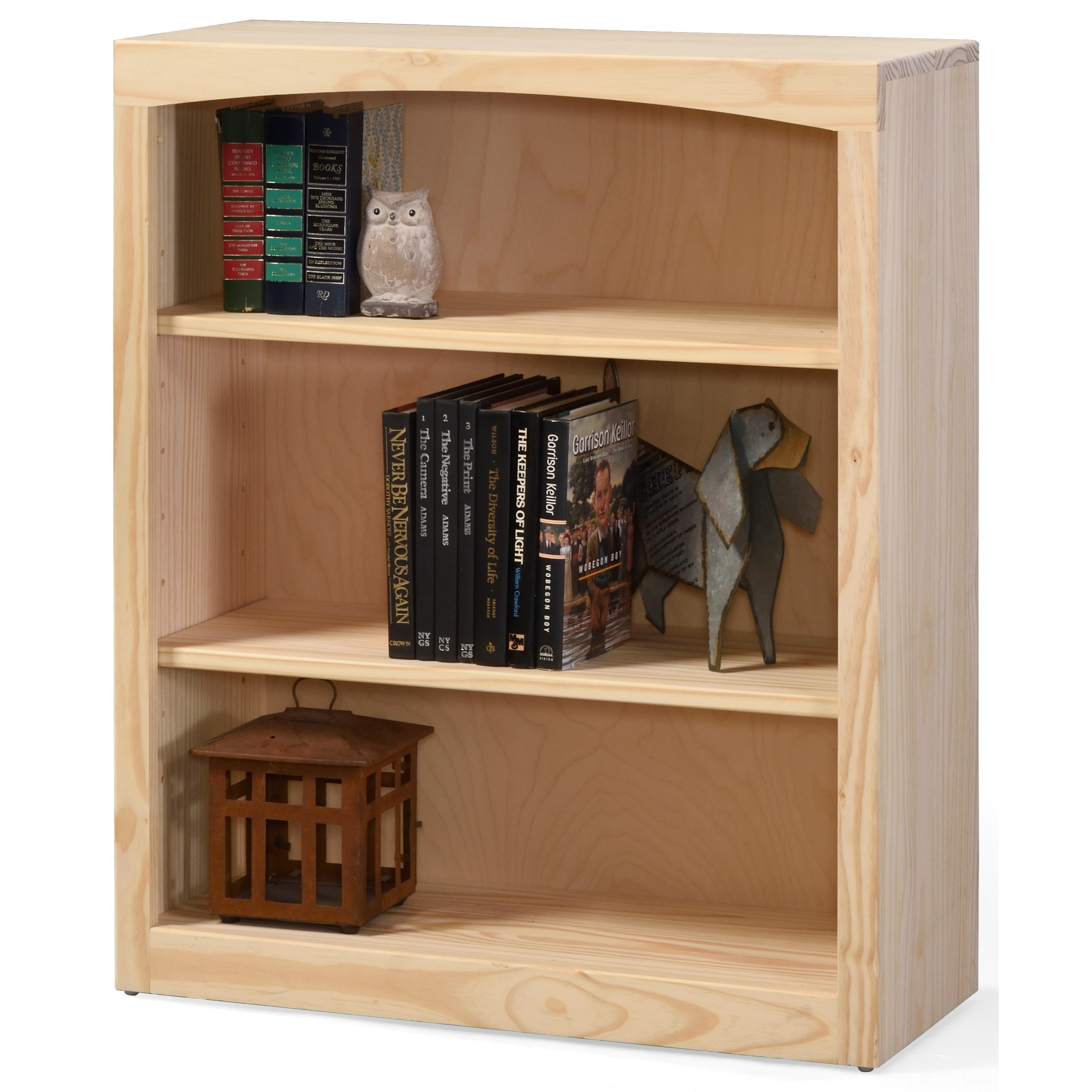 "Pine Bookcases 36"" Tall Pine Bookcase by Archbold Furniture at Furniture and ApplianceMart"
