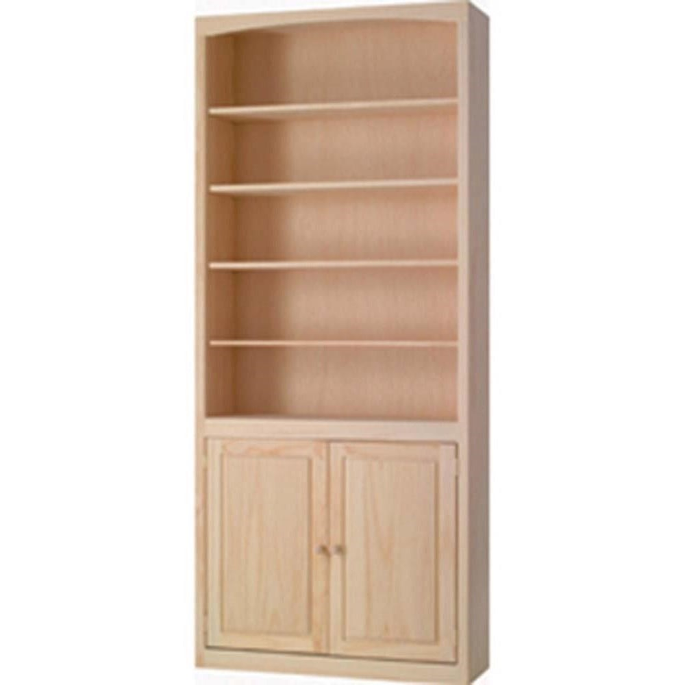 Pine Bookcases Bookcase with Doors by Archbold Furniture at Mueller Furniture