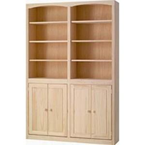 Pine Bookcase with Door Kit