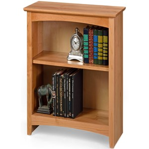 Solid Wood Alder Bookcase with 1 Open Shelf