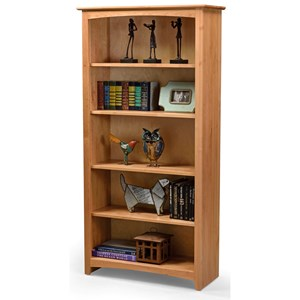 Open Bookcase with 5 Shelves