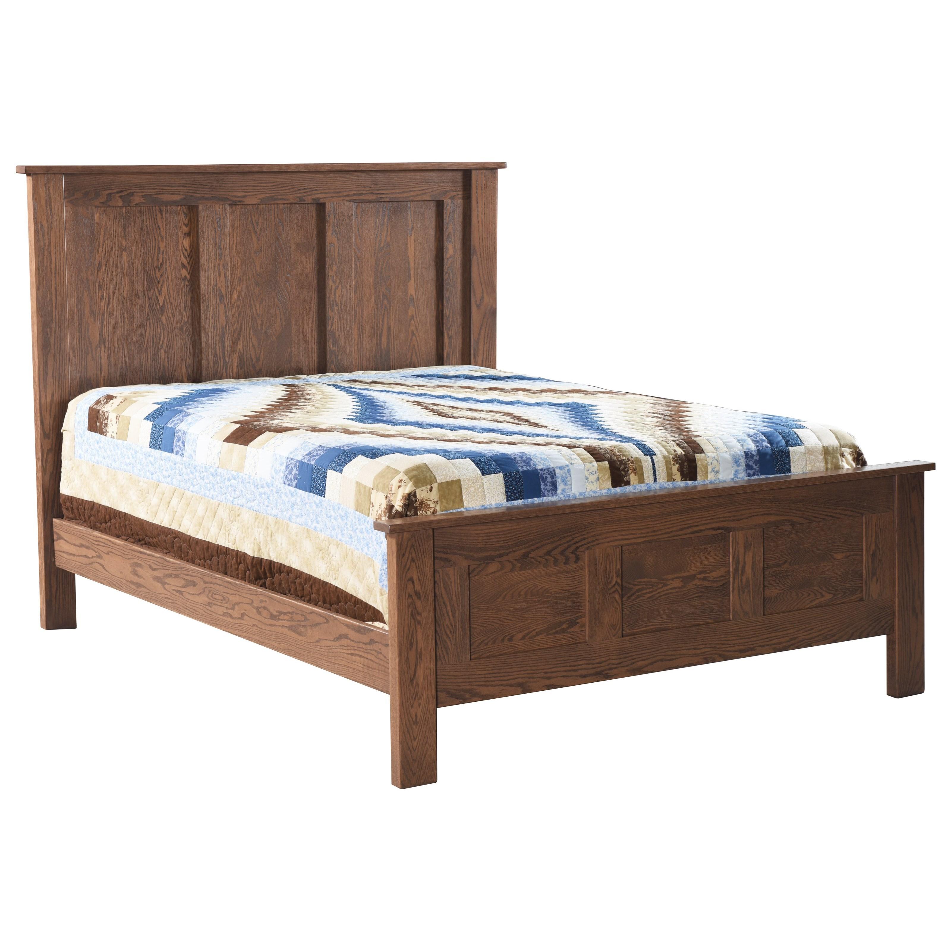 Franklin Oak Bedroom Queen Panel Bed by Archbold Furniture at Steger's Furniture