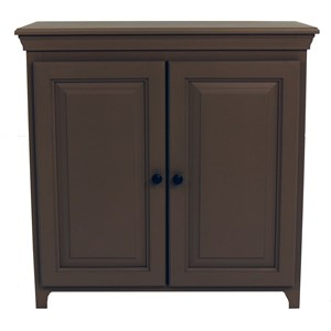 Solid Pine 2 Door Cabinet with 2 Adjustable Shelves