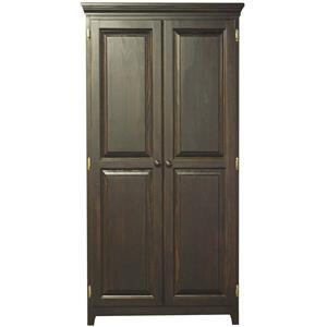 Pine 2 Door Pantry with 4 Adjustable Shelves