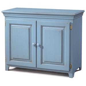 Pine 2 Door Console Cabinet with 1 Adjustable Shelf