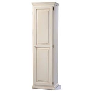 Pine 1 Door Pantry with 4 Adjustable Shelves