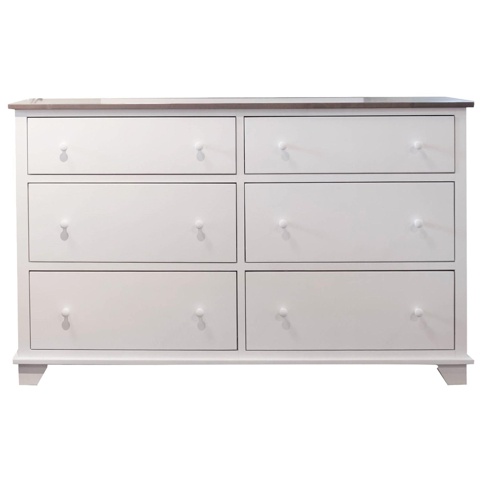 Portland 6 Drawer Dresser by Archbold Furniture at Darvin Furniture