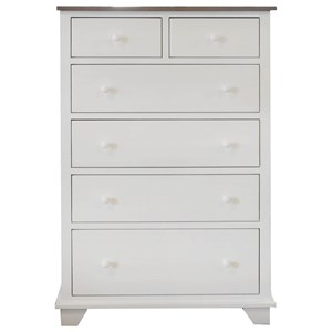 6 Drawer Chest with 2 Deep Drawers