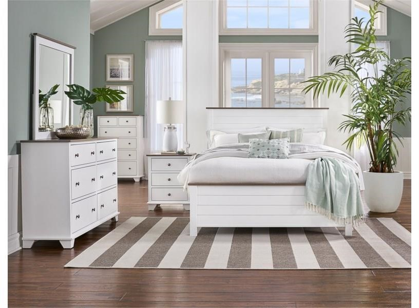 Portland Queen Bed, Nightstand, Dresser and Mirror by Archbold Furniture at Johnny Janosik