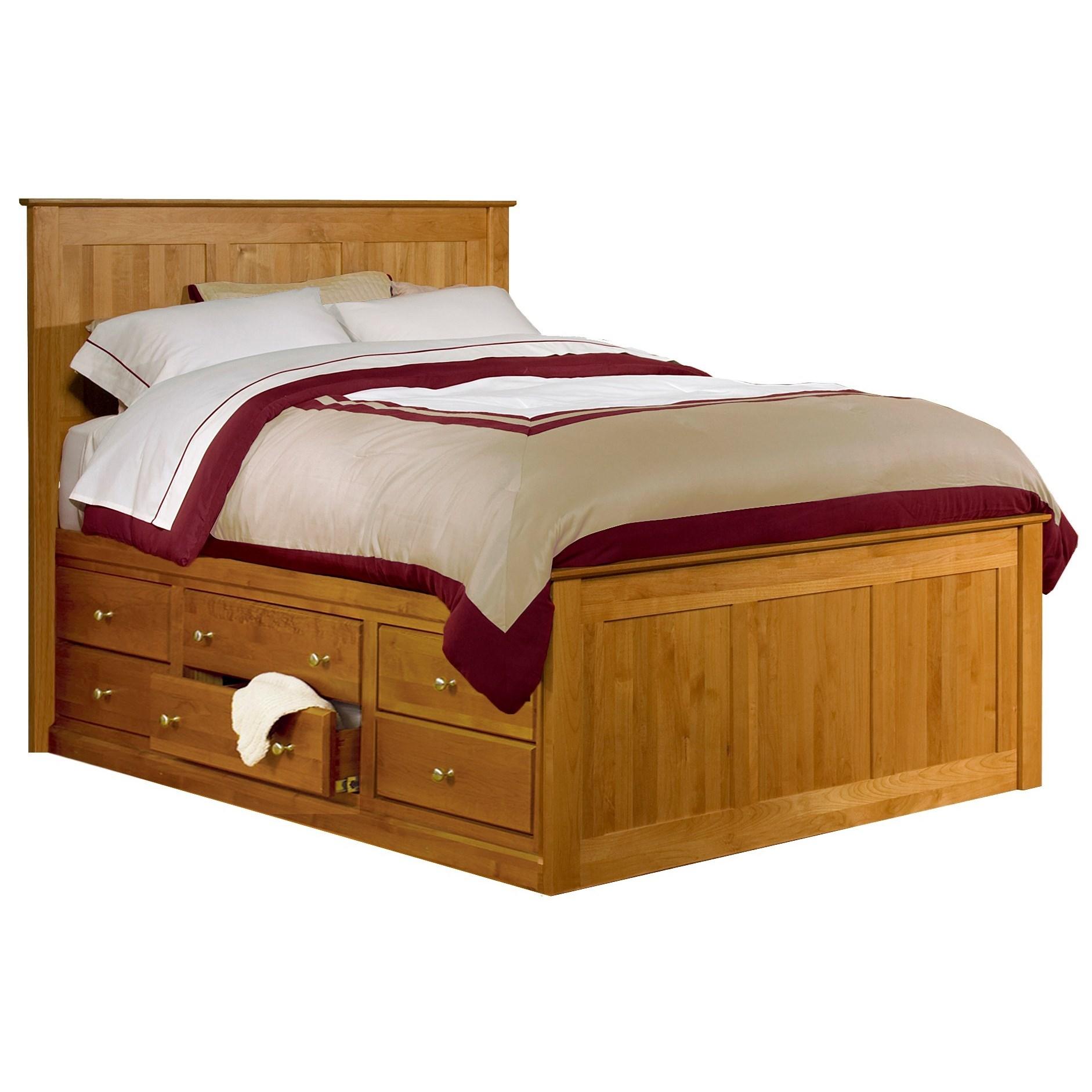 Alder Shaker Chest Bed Queen Alder Shaker Chest Bed by Archbold Furniture at Mueller Furniture