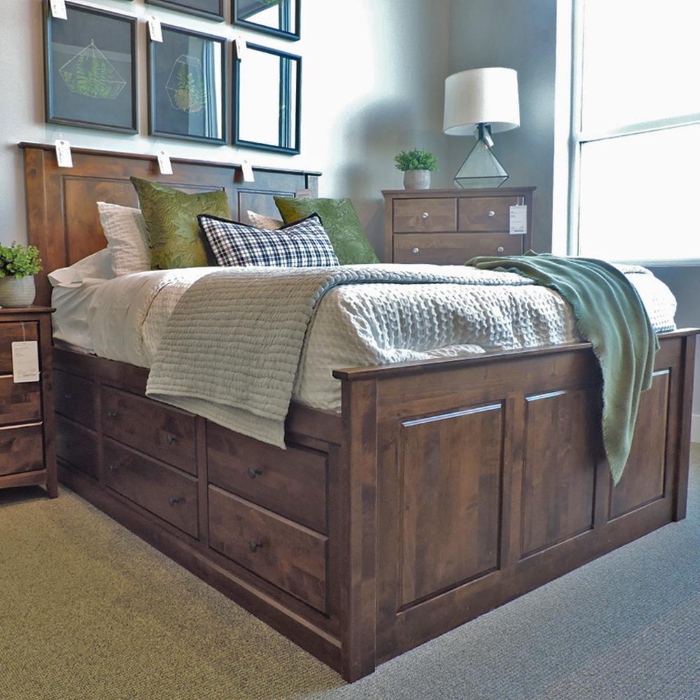 Shaker Bedroom Queen Alder Shaker Chest Bed by Archbold Furniture at Belfort Furniture