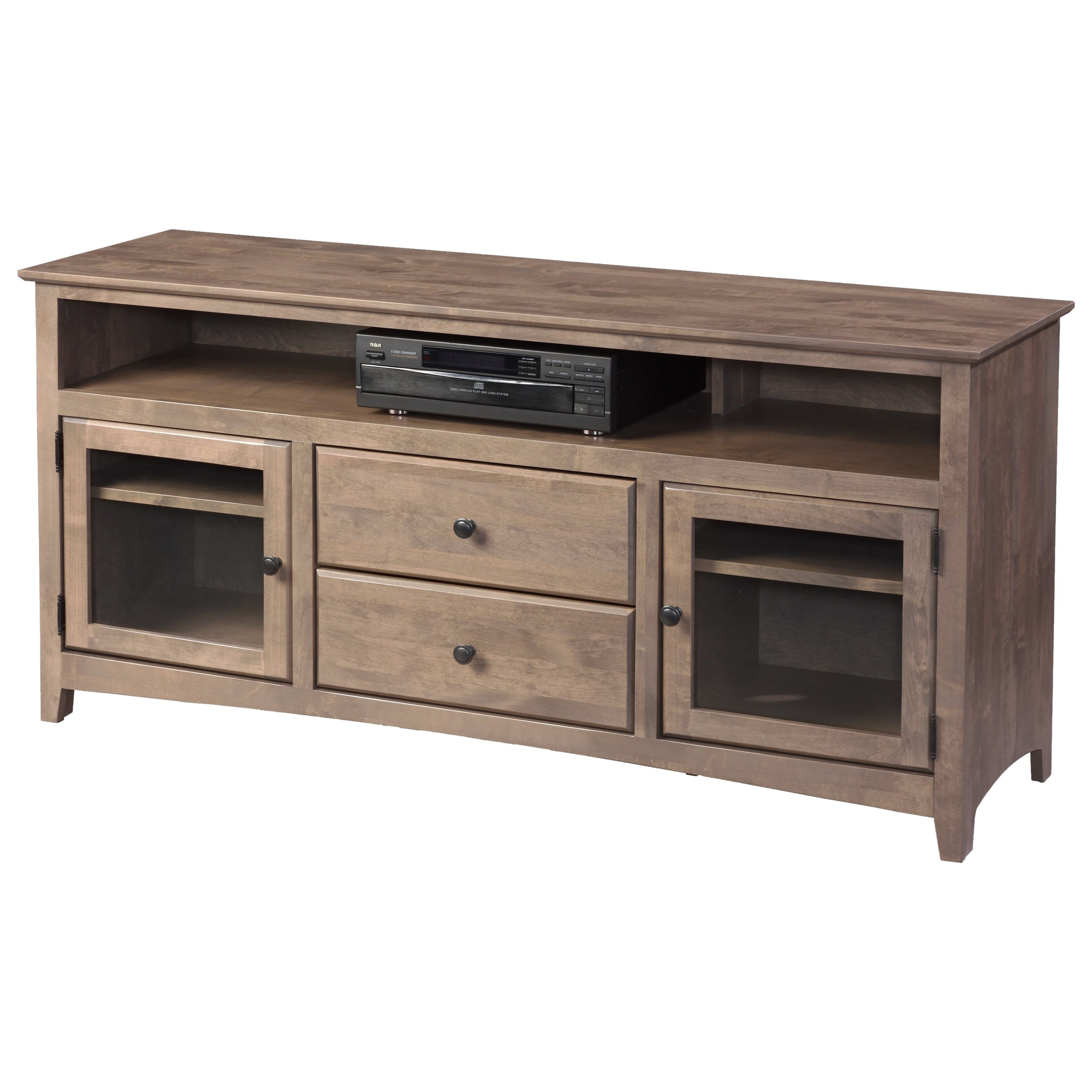 """Shaker Entertainment 62"""" TV Console by Archbold Furniture at Steger's Furniture"""