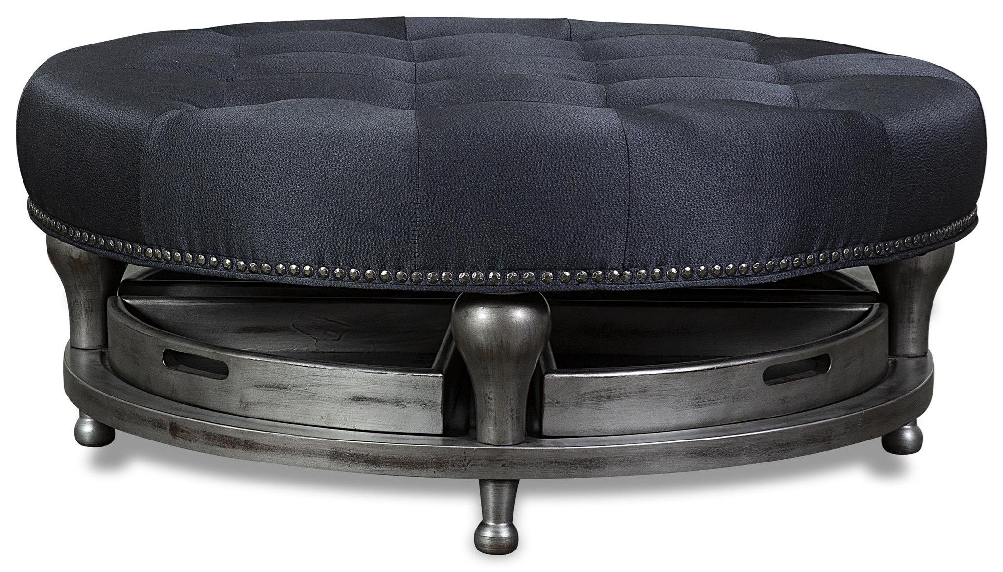 45 Cocktail Ottoman with Tray by Aria Designs at Stoney Creek Furniture