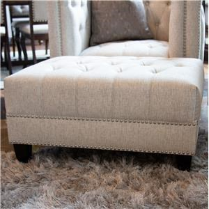 Upholstered Tufted Ottoman