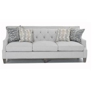 Diamond-Tufted Transitional Sofa