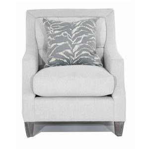 Diamon-Tufted Transitional Chair