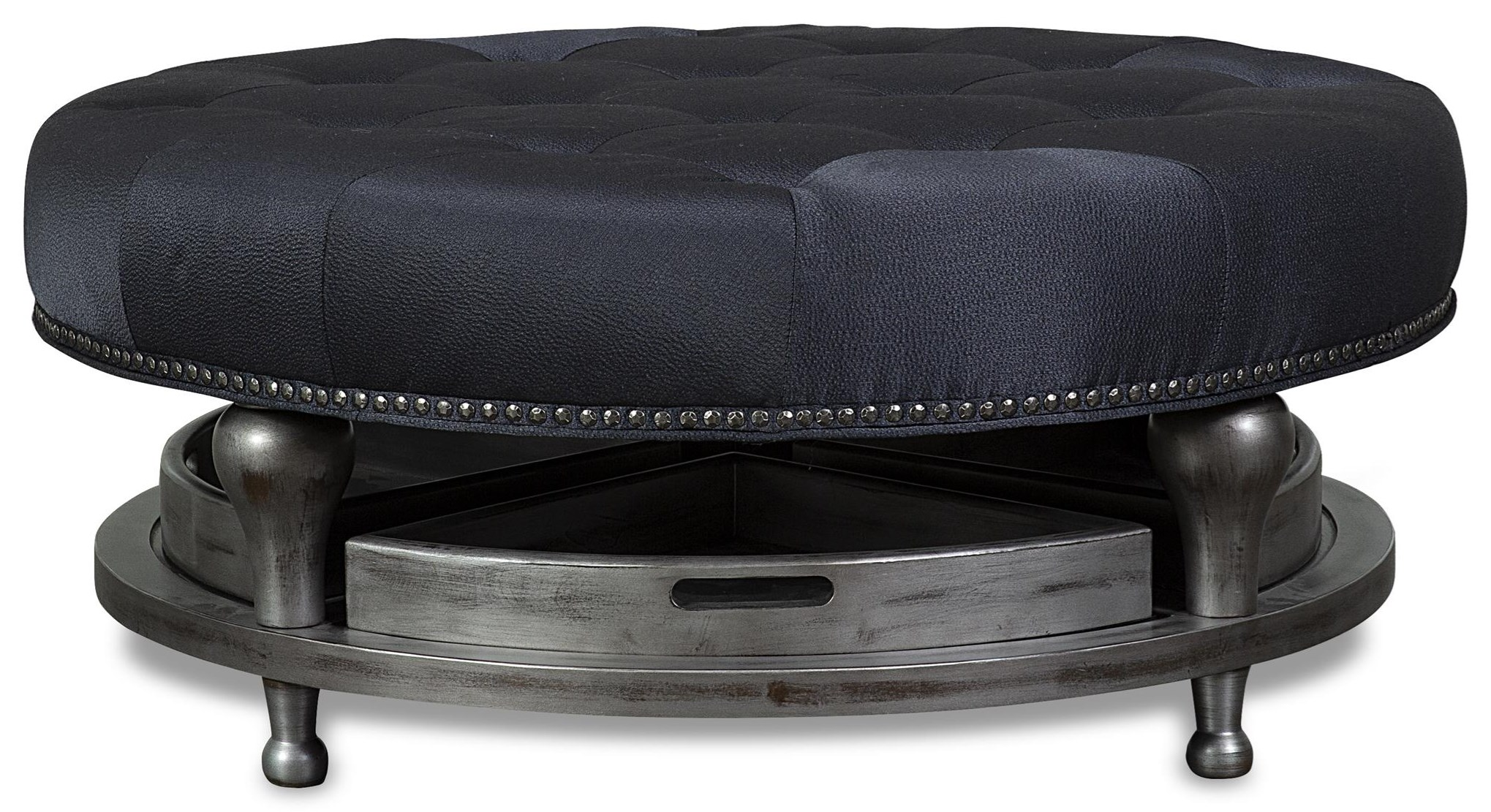 Gage Gage 4 Tray Cocktail Ottoman by Aria Designs at Morris Home