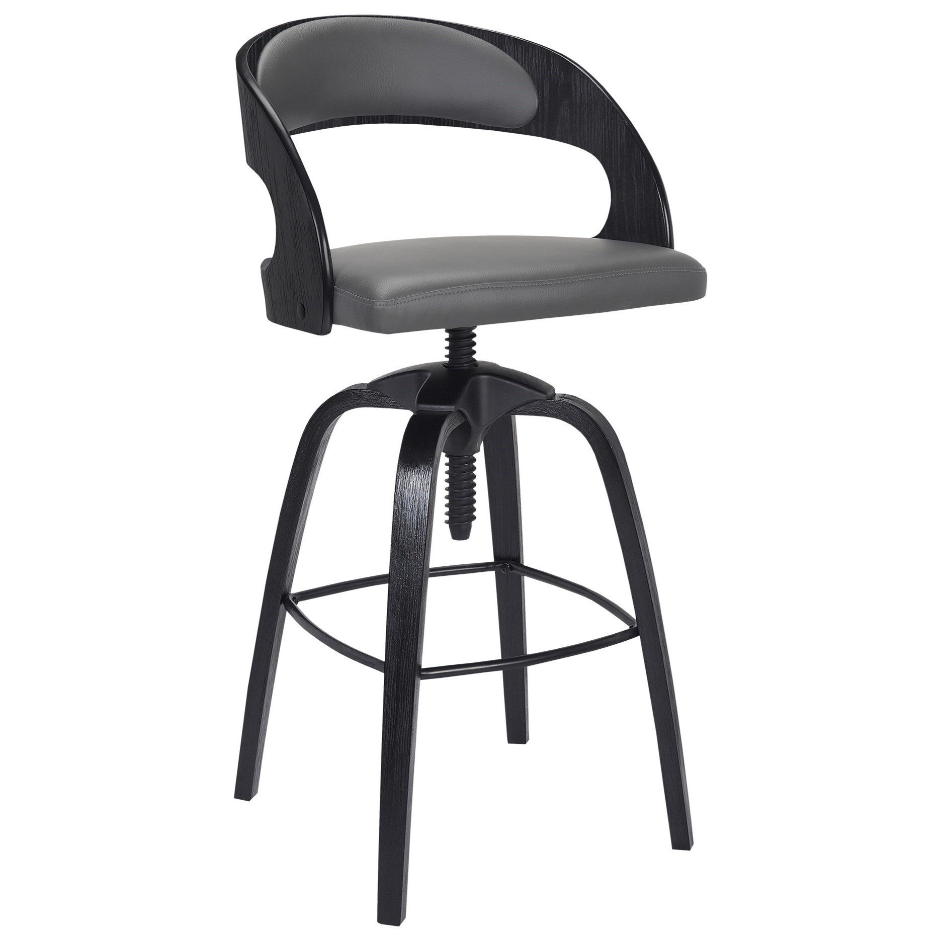 Abby Contemporary Adjustable Barstool by Armen Living at Dream Home Interiors