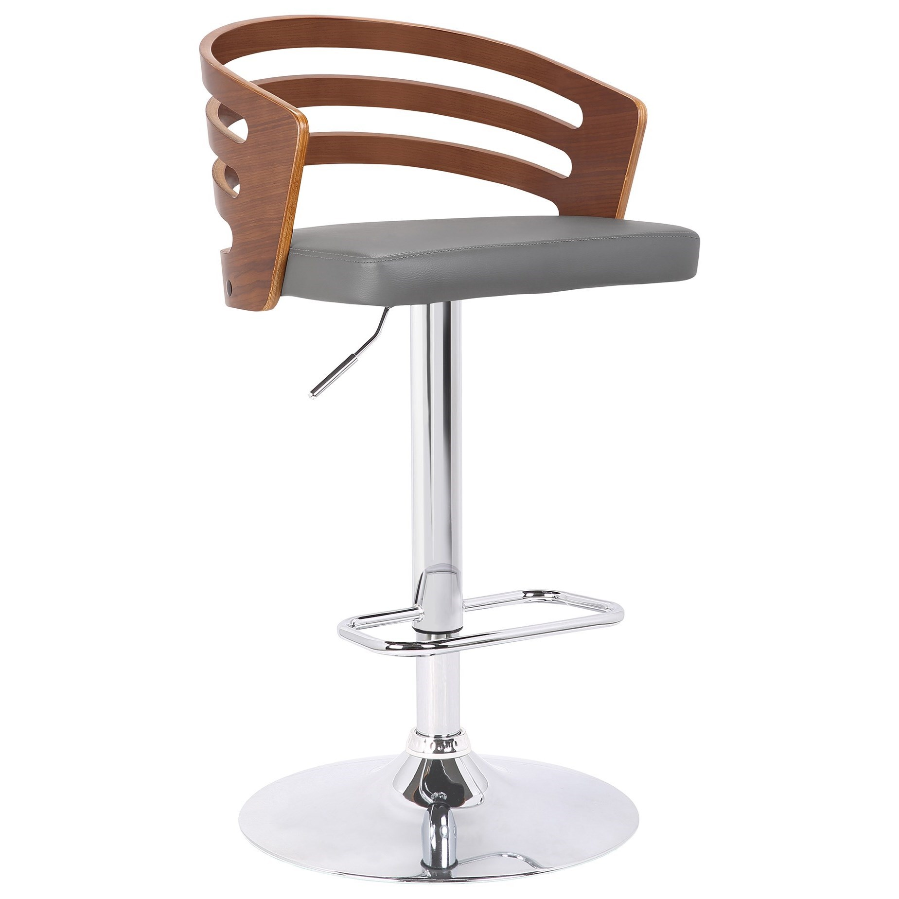 Adele Mid-Century Adjustable Swivel Barstool by Armen Living at Fisher Home Furnishings