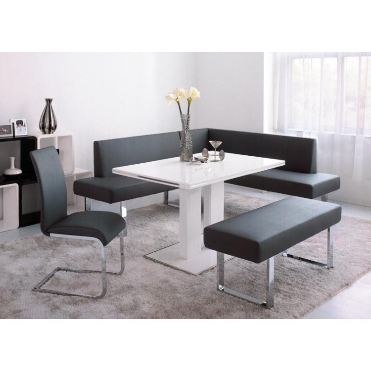 Amanda 4-Piece Dining Set with Benches by Armen Living at Fisher Home Furnishings