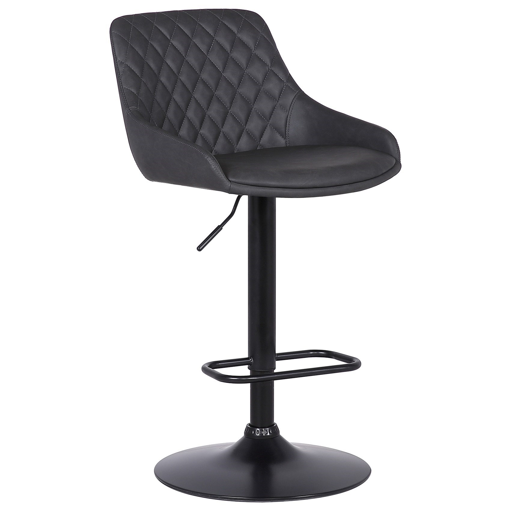 Anibal  Contemporary Adjustable Barstool in Black by Armen Living at Fisher Home Furnishings