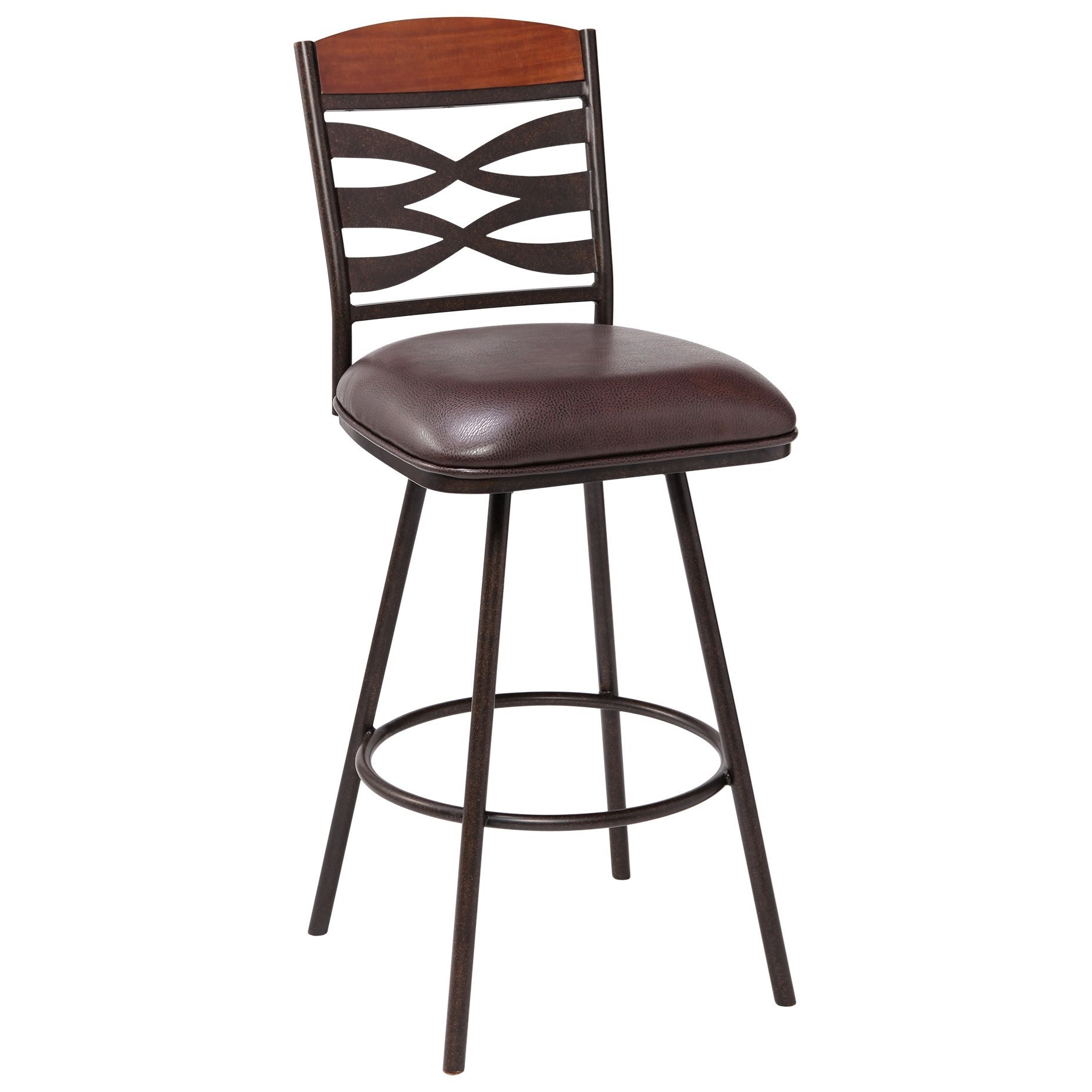 "Arden Contemporary 26"" Counter Height Barstool by Armen Living at Fisher Home Furnishings"