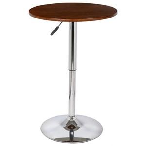 Adjustable Pub Table with Chrome Base