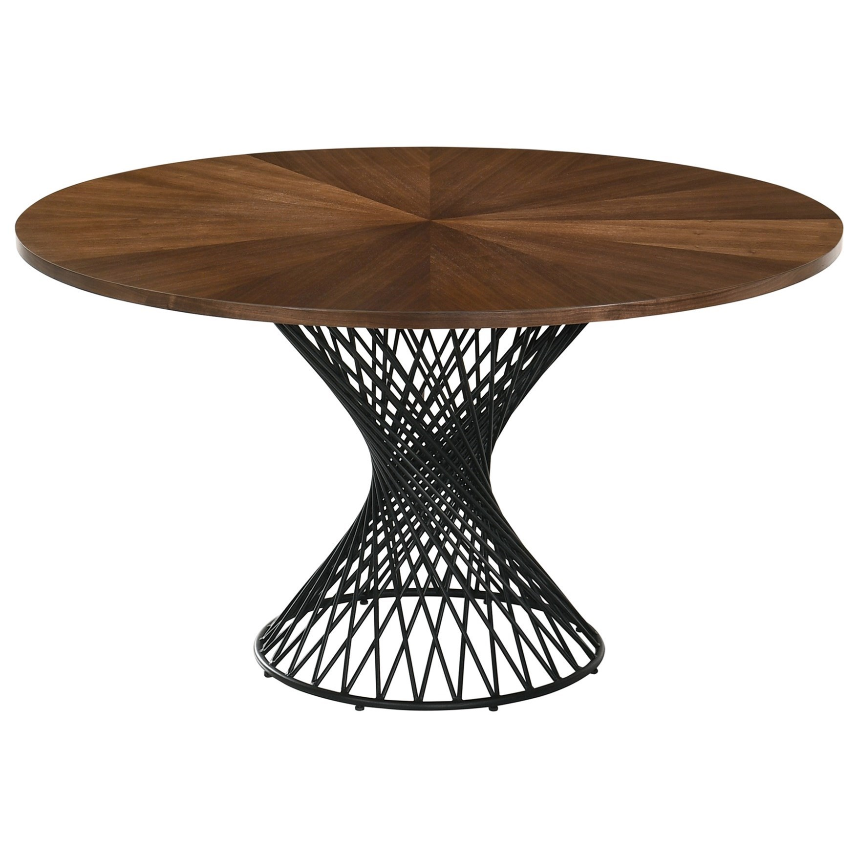 "Cirque 54"" Round Mid-Century Modern Pedestal Walnut at Sadler's Home Furnishings"