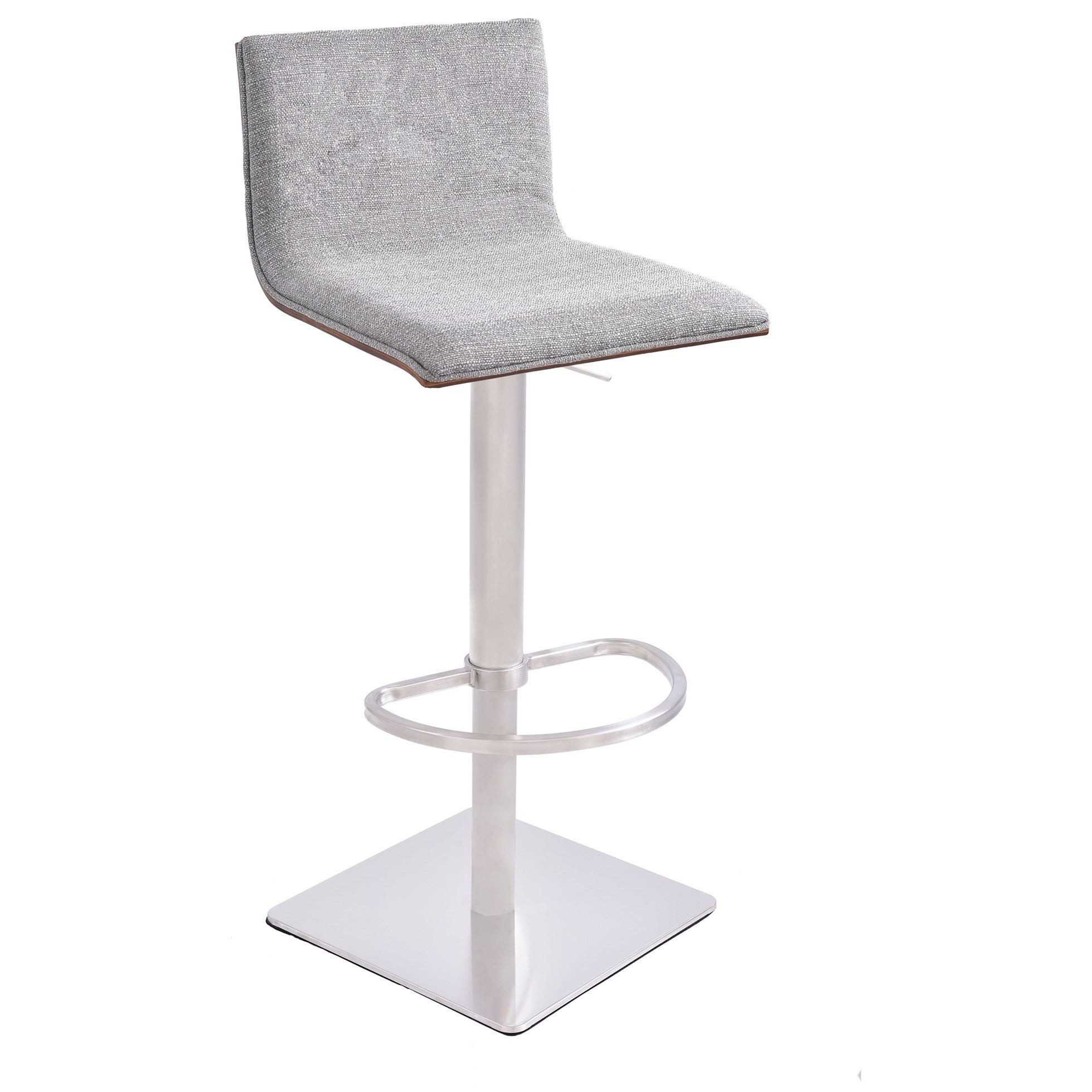 Crystal Adjustable Swivel Barstool at Sadler's Home Furnishings