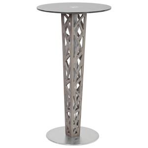 Pub Table with Gray Walnut Veneer Column