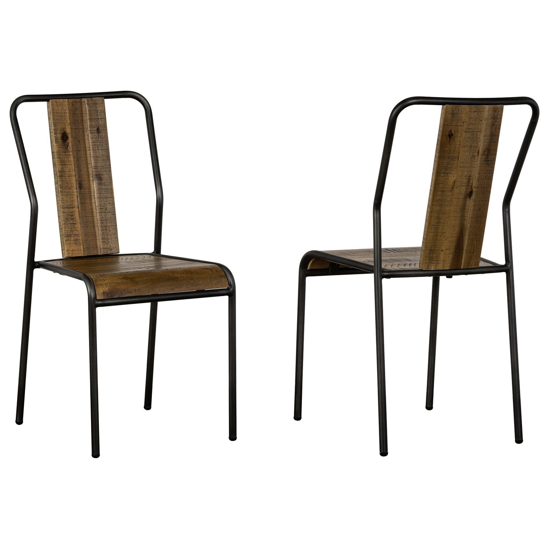 Cusco  Acacia Rustic Dining Chair - Set of 2 at Sadler's Home Furnishings