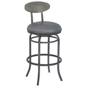 Transitional Counter Height Stool with Swivel Seat